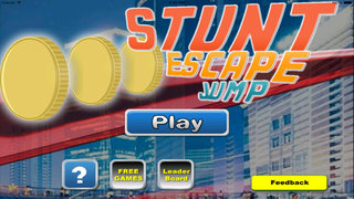 A Stunt Escape Jump PRO - City Through And Run screenshot 1