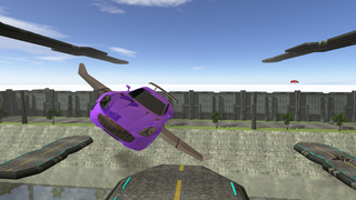 3D Flying Car Parking Simulator: eXtreme Racing, Driving and Flight Game Free screenshot 1