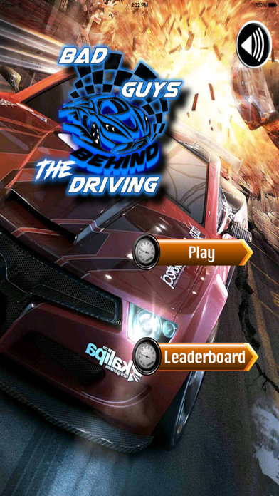 Bad Guys Behind The Driving - Amazing Car Race Game screenshot 1