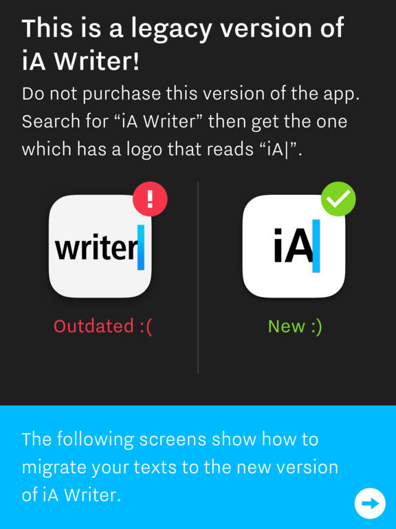 iA Writer Classic (Legacy Support Edition) Screenshot