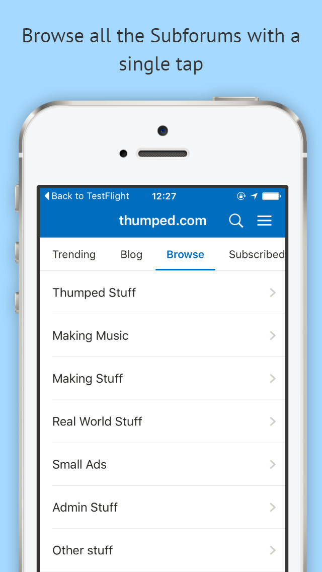 thumped.com screenshot 2