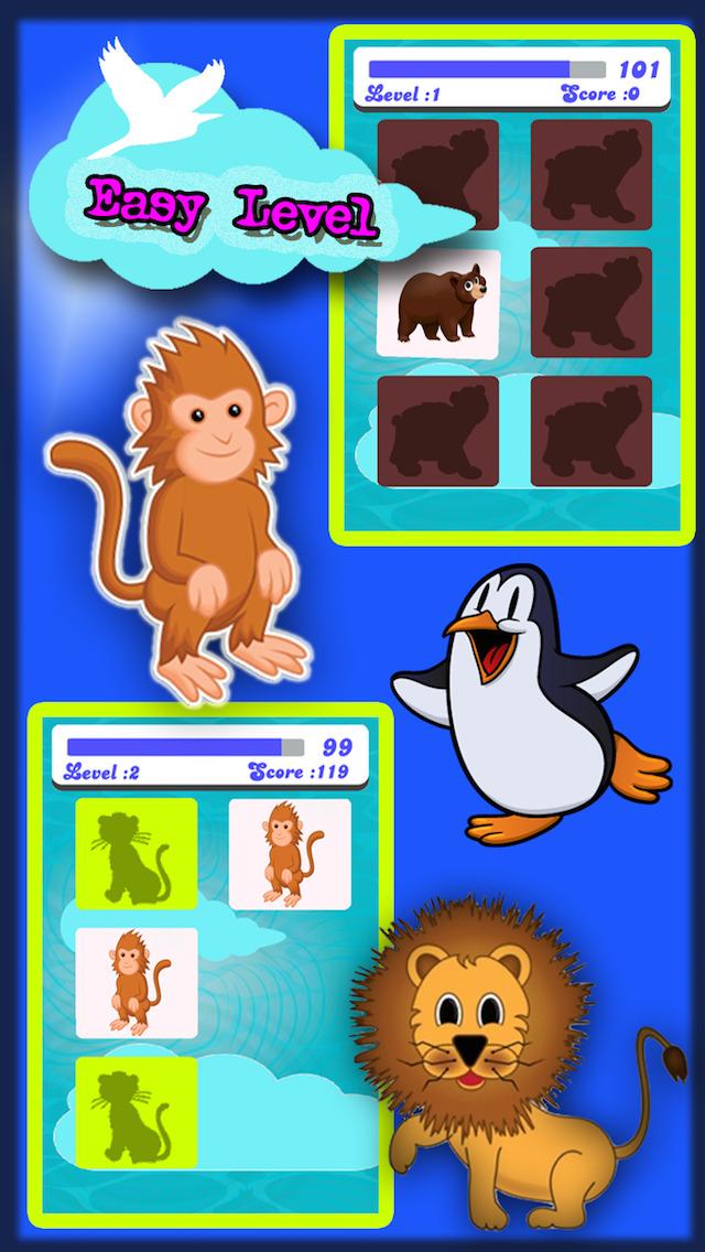 Animals match fun game for Preschool, Toddler kids & Adults screenshot 2