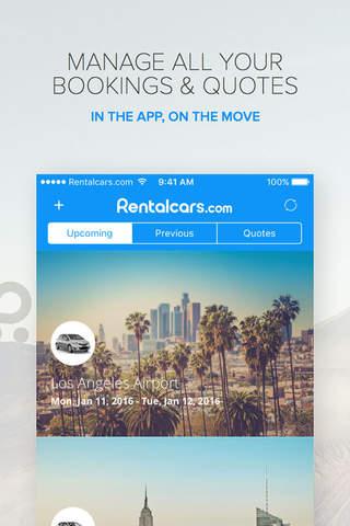 Rentalcars.com - Car hire App - náhled