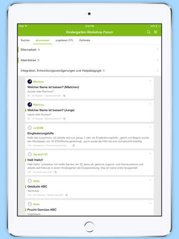 Kindergarten-Workshop Forum screenshot 6