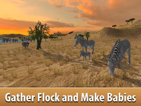 Zebra Simulator 3D - African Horse Survival screenshot 5