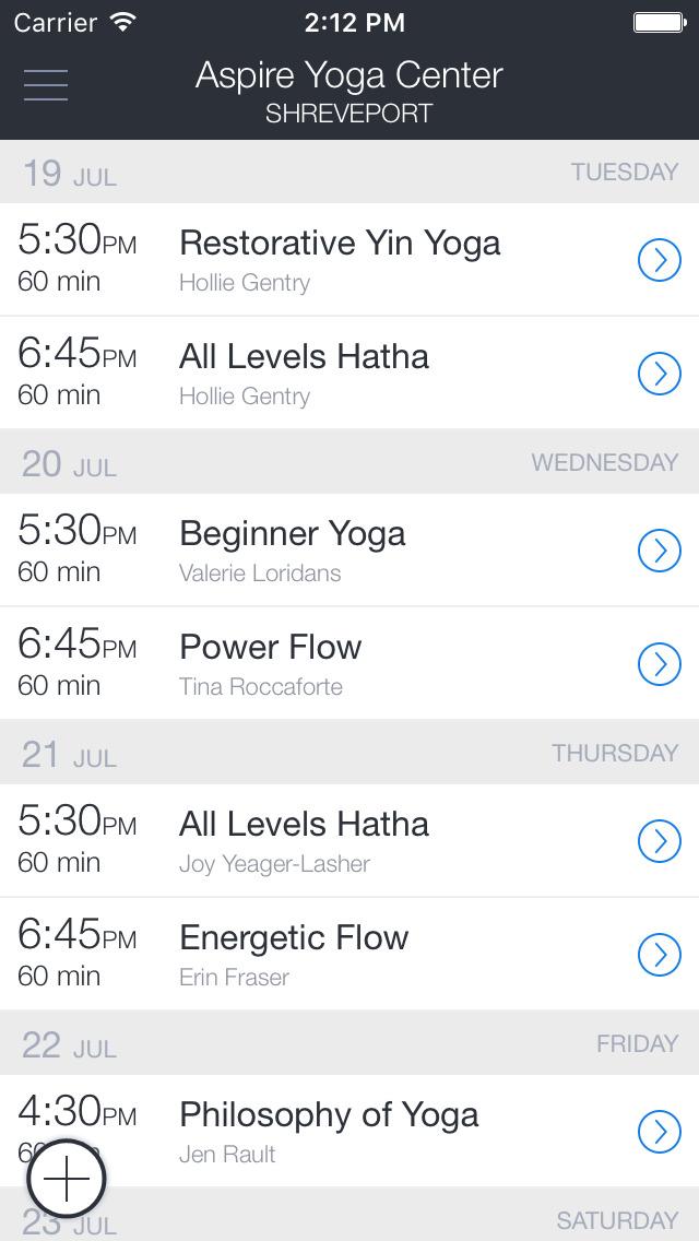 Aspire Yoga Center screenshot 1