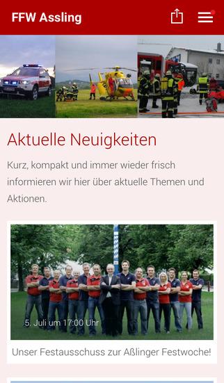 Freiwillige Feuerwehr Aßling screenshot 1