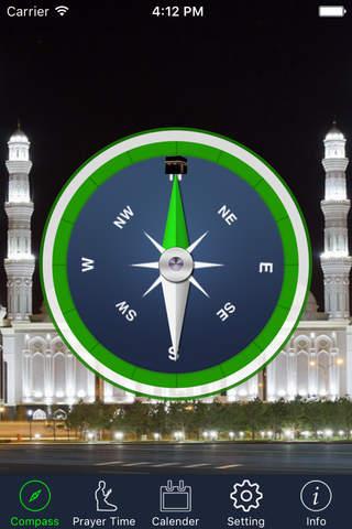 Qibla Compass & Prayer Times PRO - (Salat Times, I - náhled