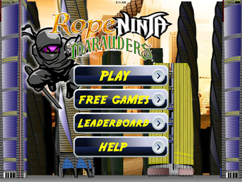 Rope Ninja Madness - Chase Jump Swing screenshot 6