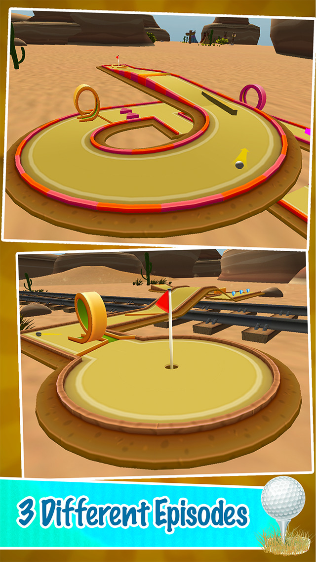 Mini Golf PRO : Desert Edition 2016 - Play golf holes in classic sand environment by BULKY SPORTS screenshot 3