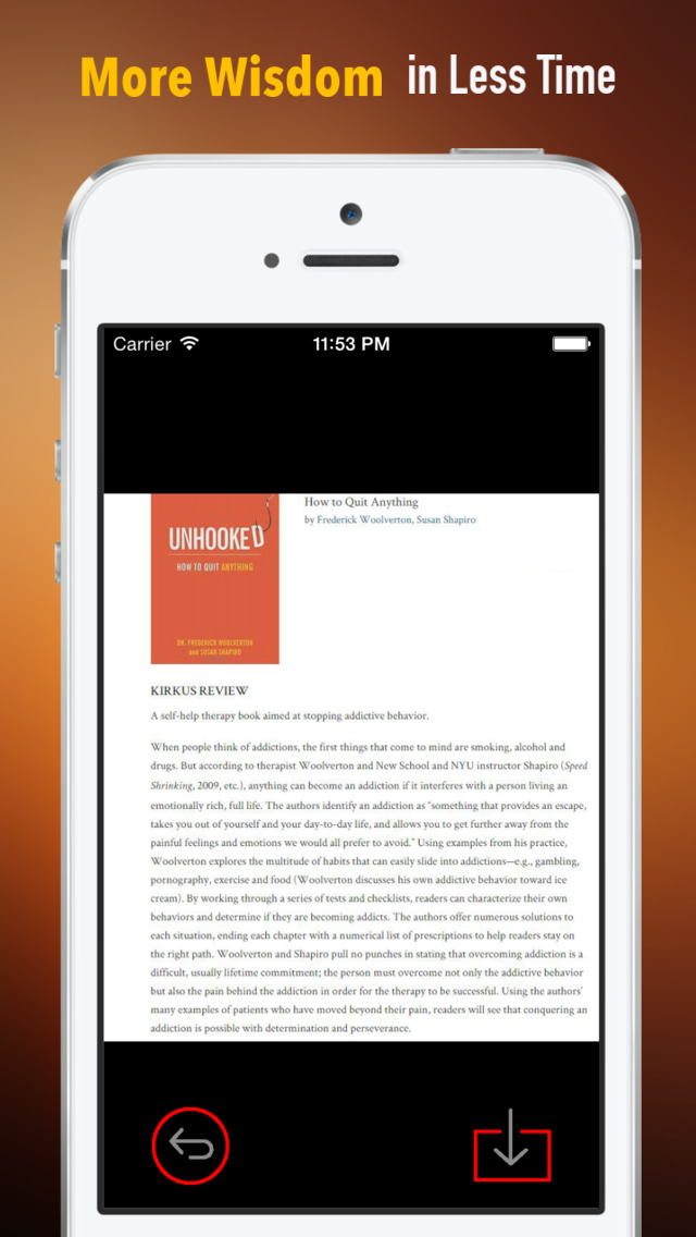 Unhooked: Practical Guide Cards with Key Insights and Daily Inspiration screenshot 1