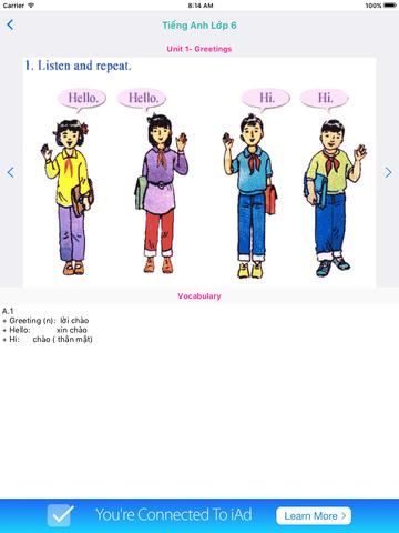 Tieng Anh Lop 6 - English 6 screenshot 9