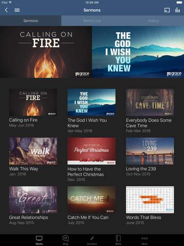 Grace Church App - náhled