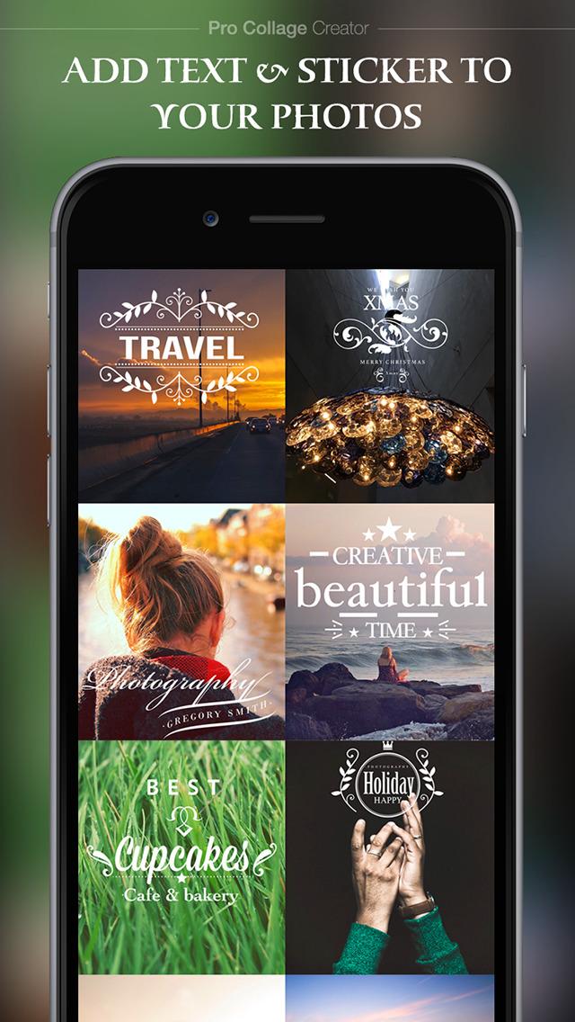 Pro Collage Creator – Add beautiful text & artwork to photos screenshot 4