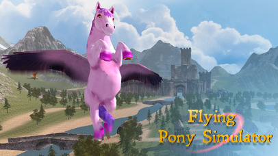 Flying Pony: Small Horse Simulator 3D Full screenshot 4