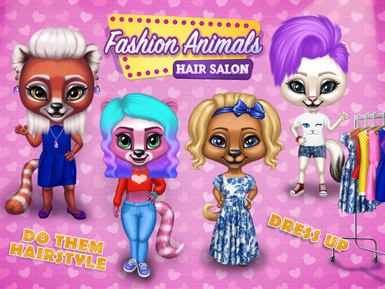 Fashion Animals - Hair Salon, Makeup & Dress Up screenshot 6