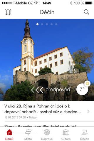 Děčín - oficiální aplikace - náhled