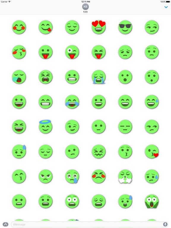 GREEN Emoji • Stickers screenshot 6