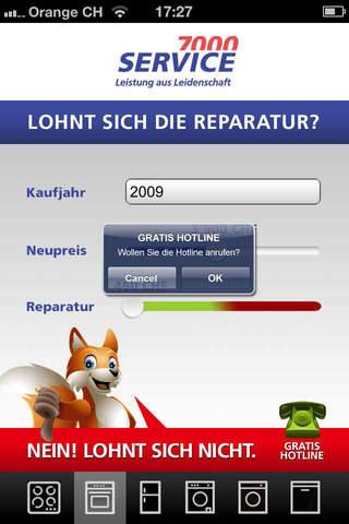 Reparatur Kalkulator Service7000 - náhled