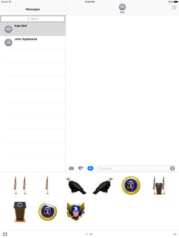 Presidential Stickers screenshot 3