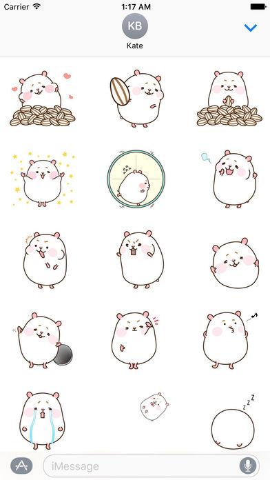 Animated Gluttony Hamster Gif Stickers screenshot 1