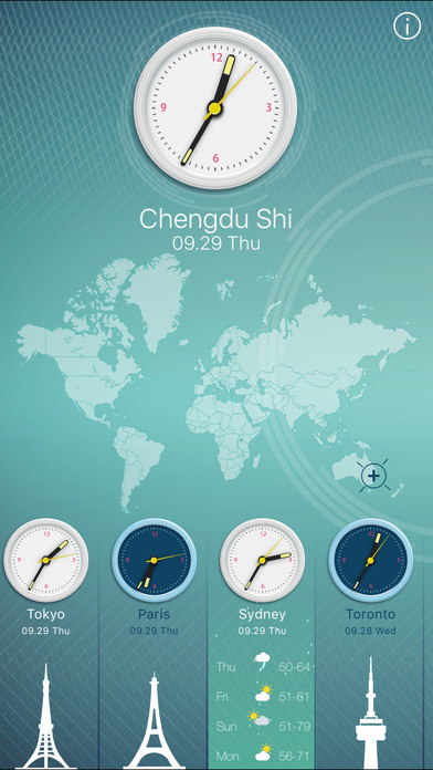 World Clock 2.0 screenshot 1