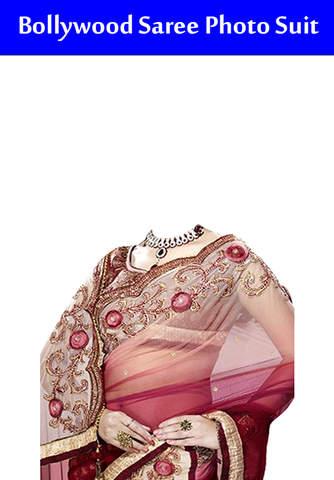 Bollywood Saree Photo Suit - náhled