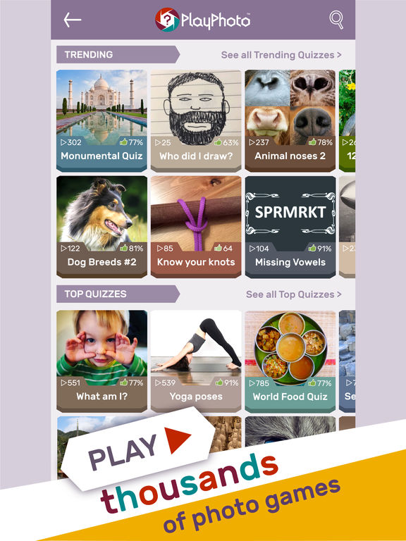 PlayPhoto : Trivia Picture Quiz 1000s of Quizzes screenshot 6