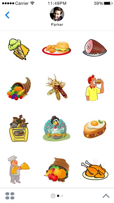 Food Stickers - Thanksgiving Food Emoji screenshot 1