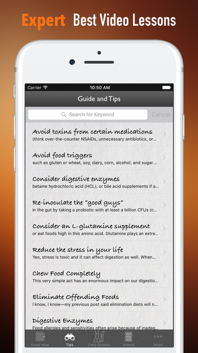 Leaky Gut 101-Symptoms and Digestive System screenshot 3