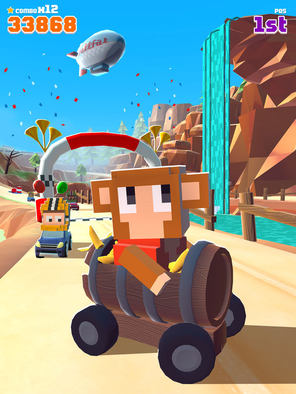Blocky Racer - Endless Arcade Racing screenshot 8