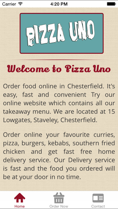 Pizza Uno Staveley Apps 148apps