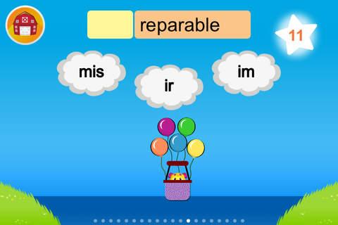 Puppy Pop: Prefix & Suffix game (Multi-User) - náhled