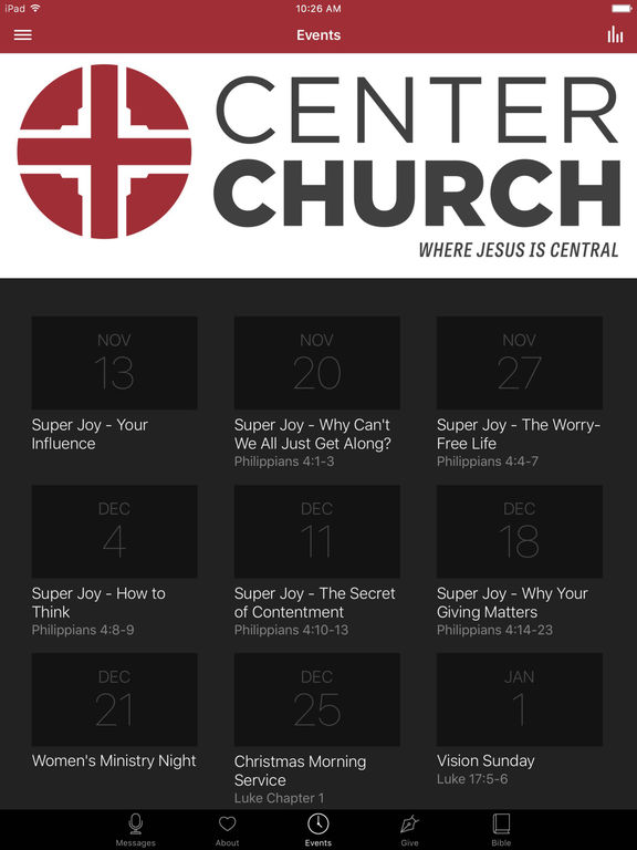 Center Church screenshot 6
