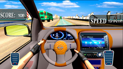 City Car Drive : New Highway Traffic Racing Game screenshot 2