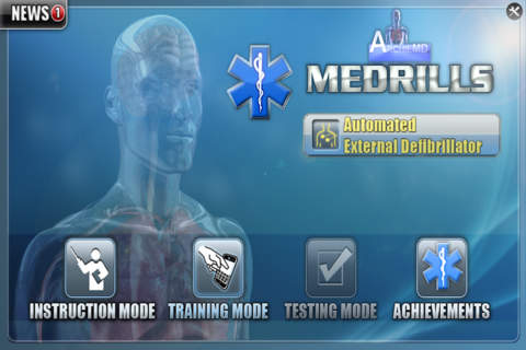 Medrills: AED - náhled