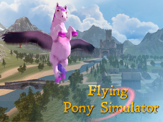 Flying Pony: Small Horse Simulator 3D Full screenshot 8