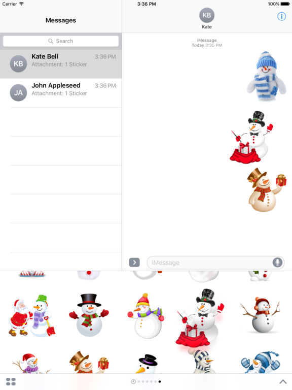 Snowman Stickers Pack iMessage Edition screenshot 9