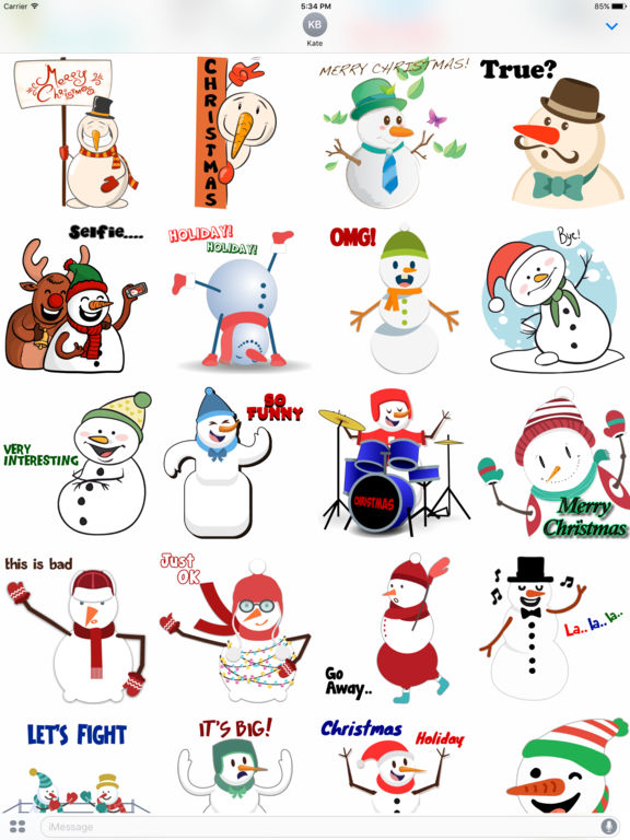 Funny Snowman Stickers screenshot 4