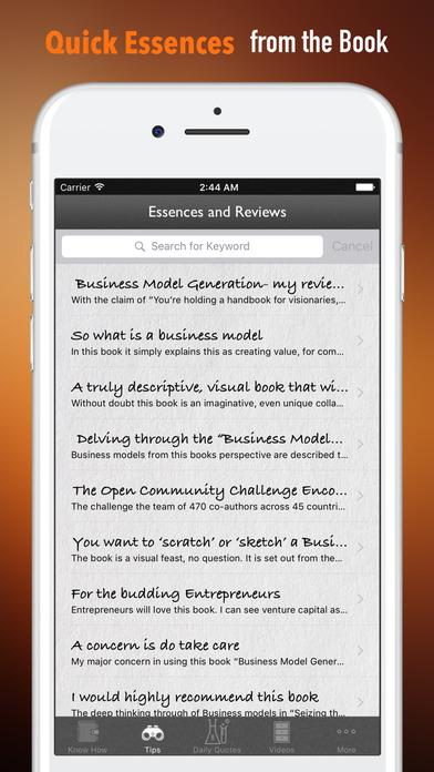 Quick Wisdom Guide from Business Model Generation screenshot 3