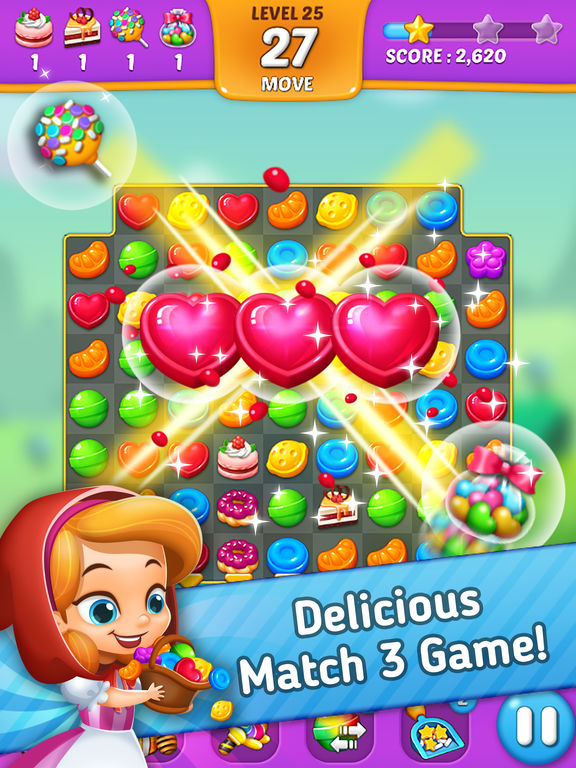 Lollipop: Sweet Taste Match3 screenshot 6