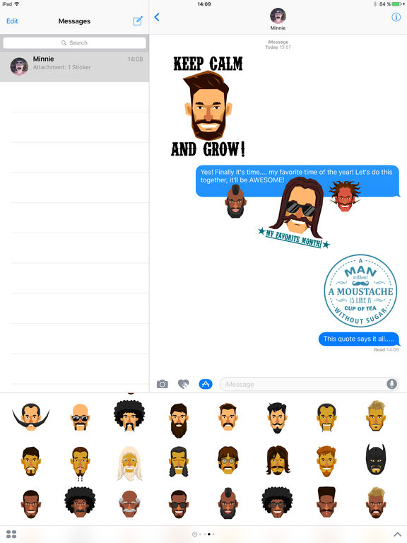 Moustache Moji screenshot 7
