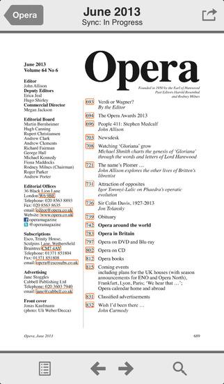 Opera Magazine screenshot 2