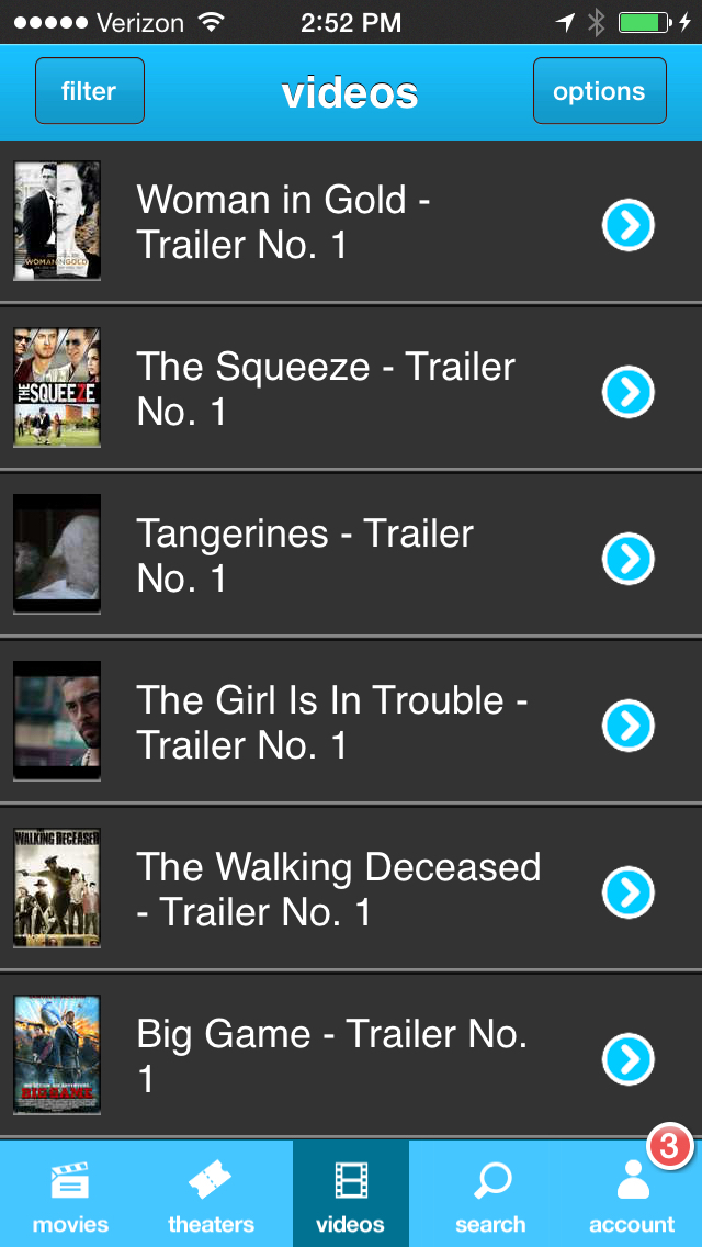 Moviefone - Movies, Trailers, Showtimes & Tickets screenshot 3