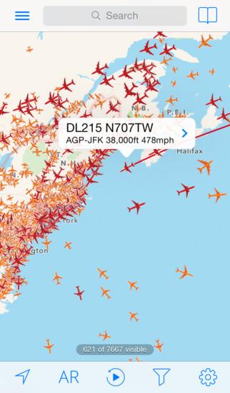 Plane Finder - Flight Tracker screenshot 1