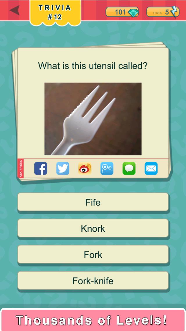 Trivia Quest™ Food & Drink - trivia questions screenshot 1