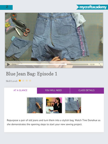 Sew Your Own Blue Jean Bag screenshot 9