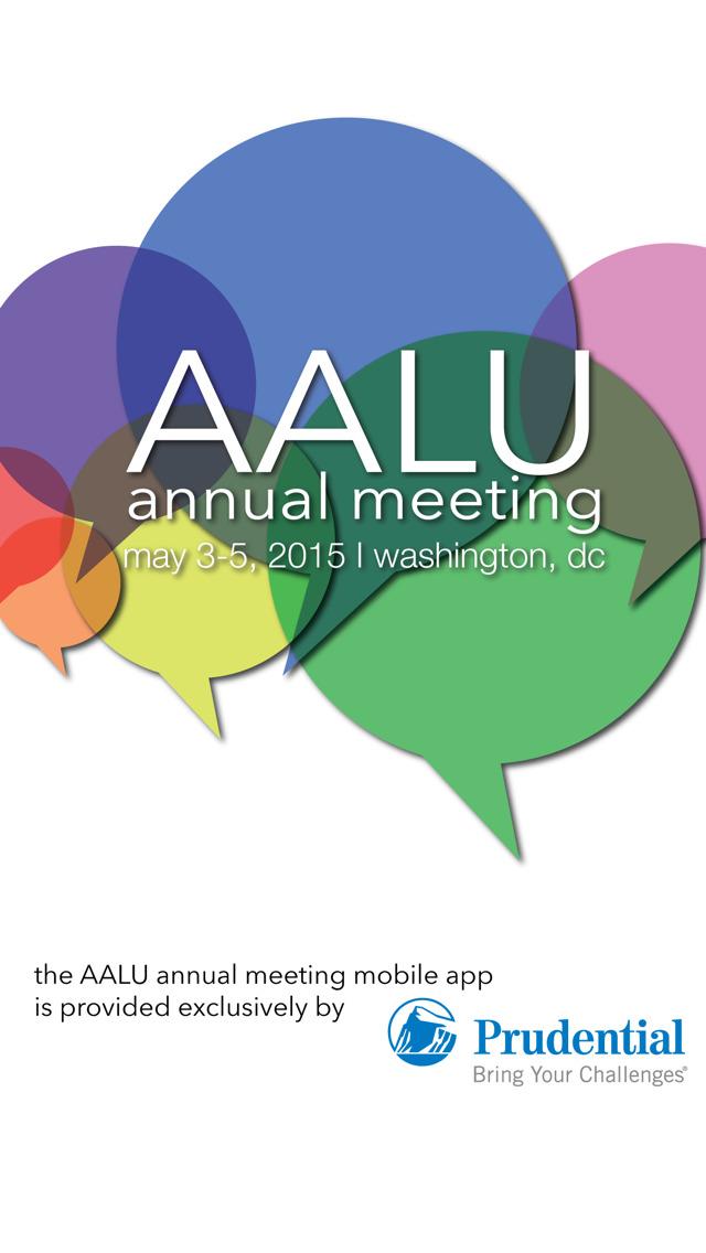 2015 AALU Annual Meeting screenshot 2