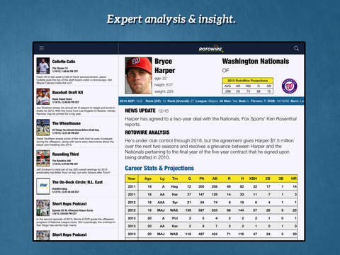 RotoWire Fantasy Baseball Assistant 2015 screenshot 7