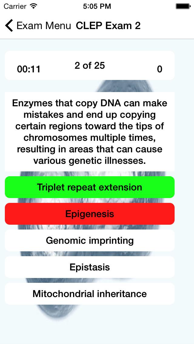 CLEP Biology Prep 2020 screenshot 2